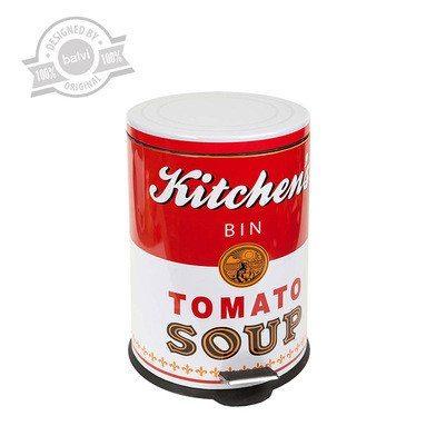 "Cubo de basura de estilo retro ""Lata de sopa"""