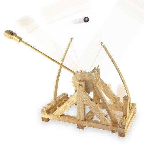 Catapulta de madera Da Vinci – el regalo ideal para los constructores
