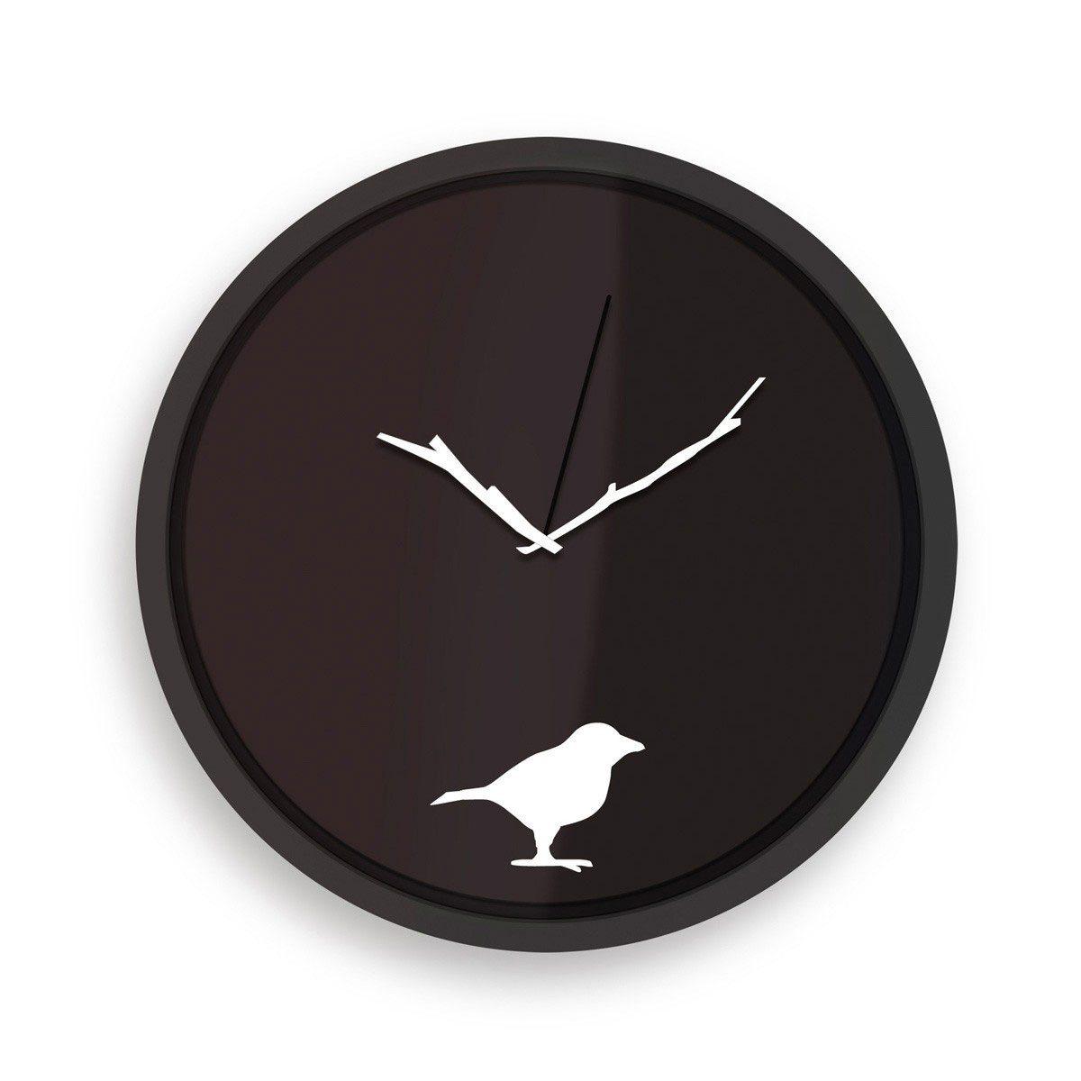 Reloj de pared con estilo muy natural - Pájaro madrugador
