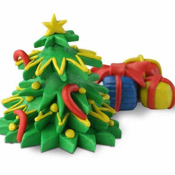 Der Weihnachtsbaum zum Selbstkneten