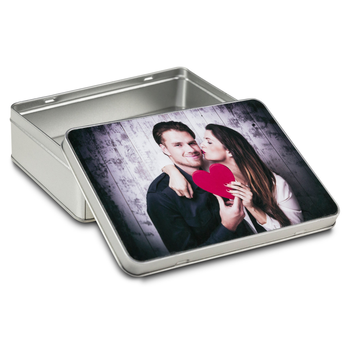 Caja de regalo cuadrada con foto