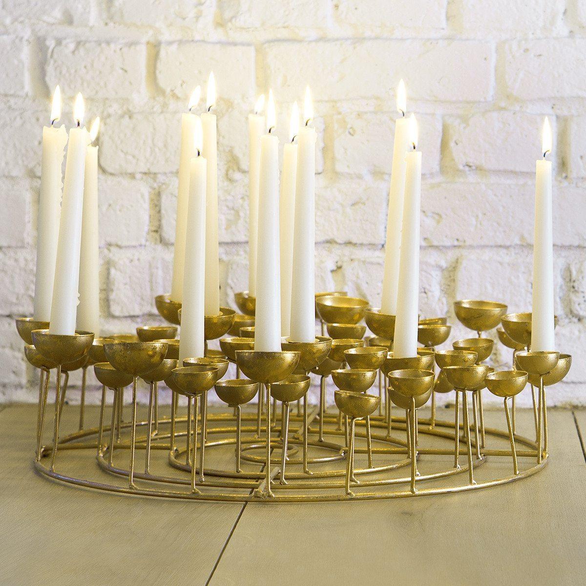 Candelabro XXL Medusa – espacio para 14 velas