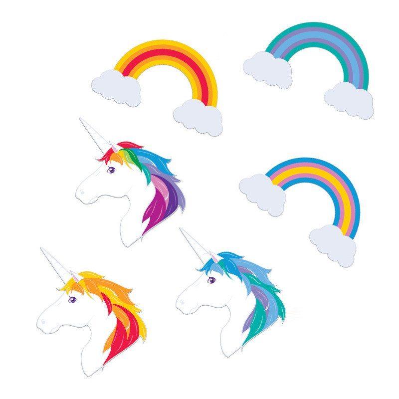 """Set de imanes """"unicornio"""" – tu frigorífico más mágico"""