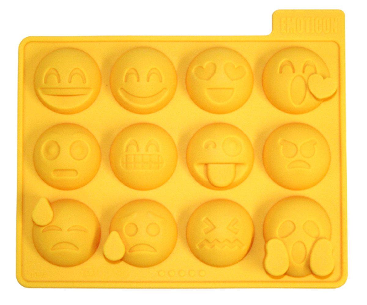 Molde para hielos con Emoticonos - copas con emociones