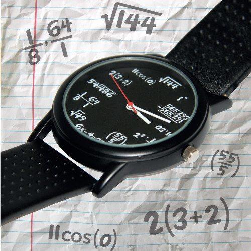 Reloj de pulsera para cerebritos - Fórmulas matemáticas