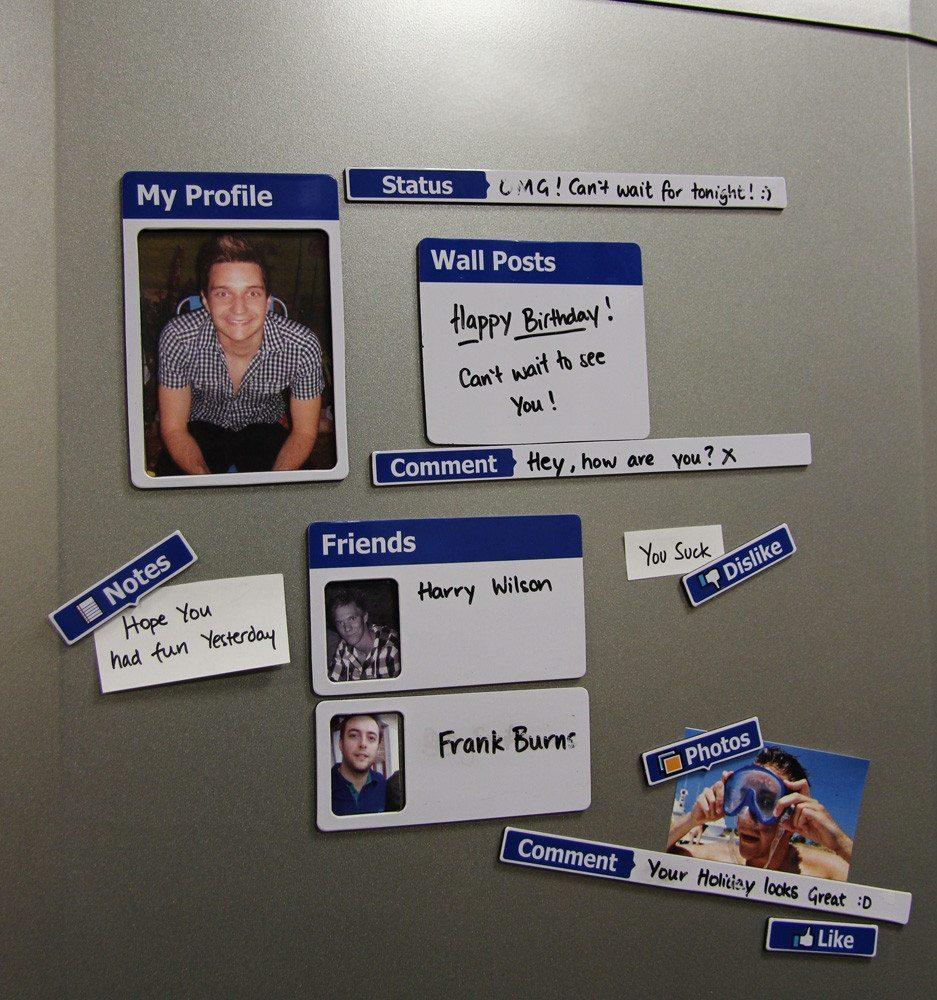 Fridgebook – Facebook Kühlschrank Magnete