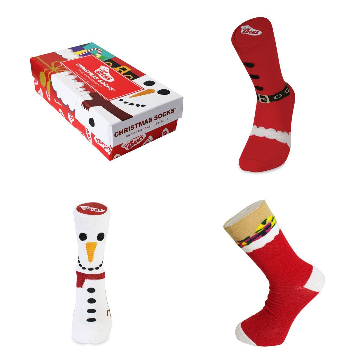 Set de calcetines navideños