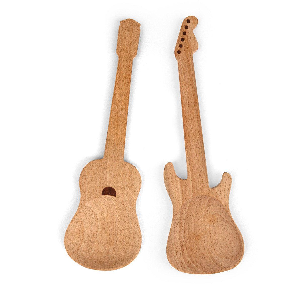 """""""Guitarras"""" - Cucharas para ensalada solo para rock stars"""