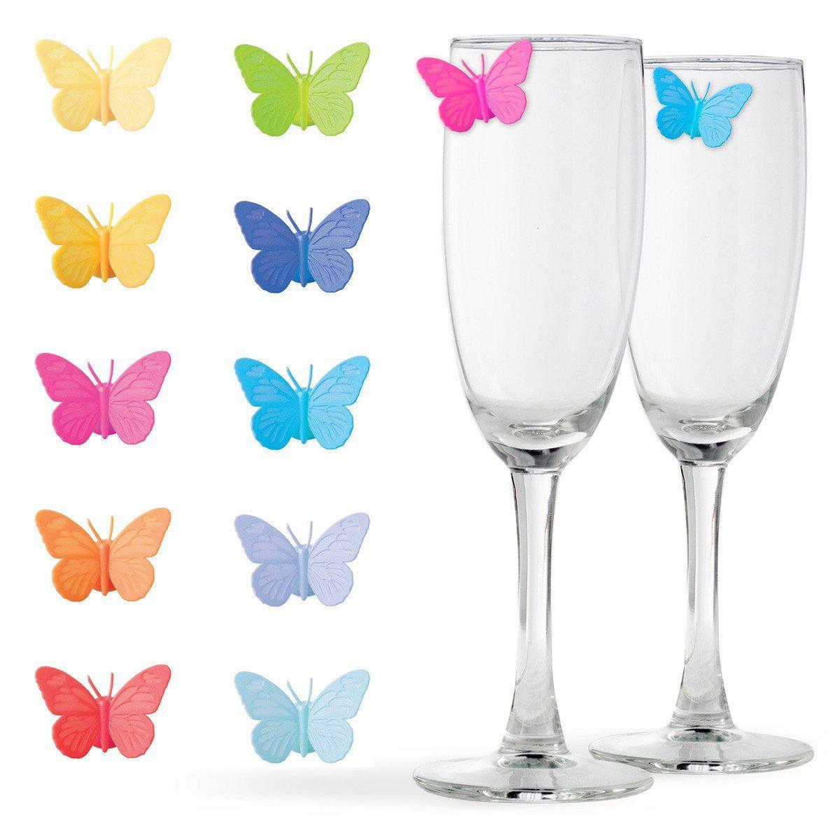 "Glasmarker ""Schmetterlinge"""