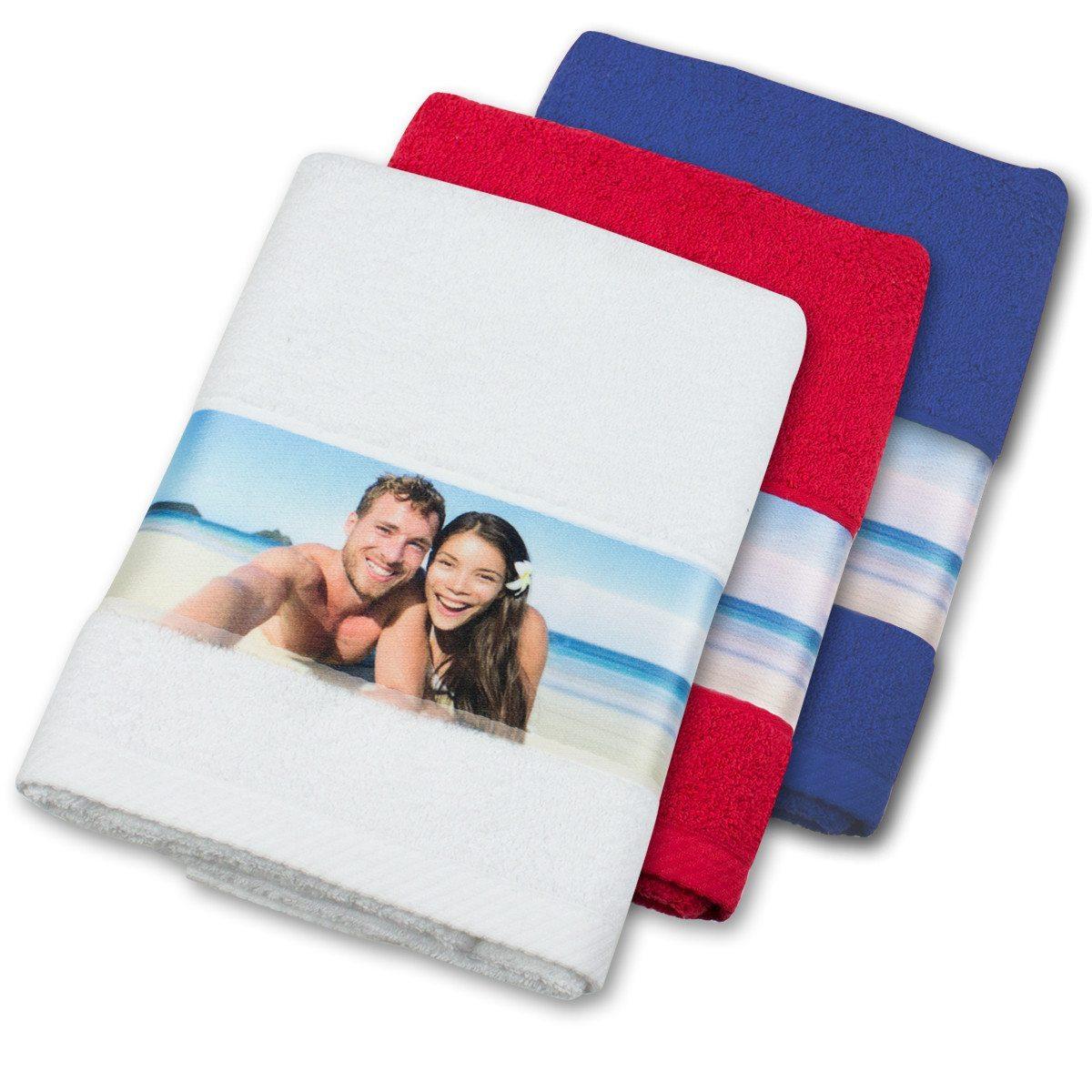 Handtuch mit Fotobordüre