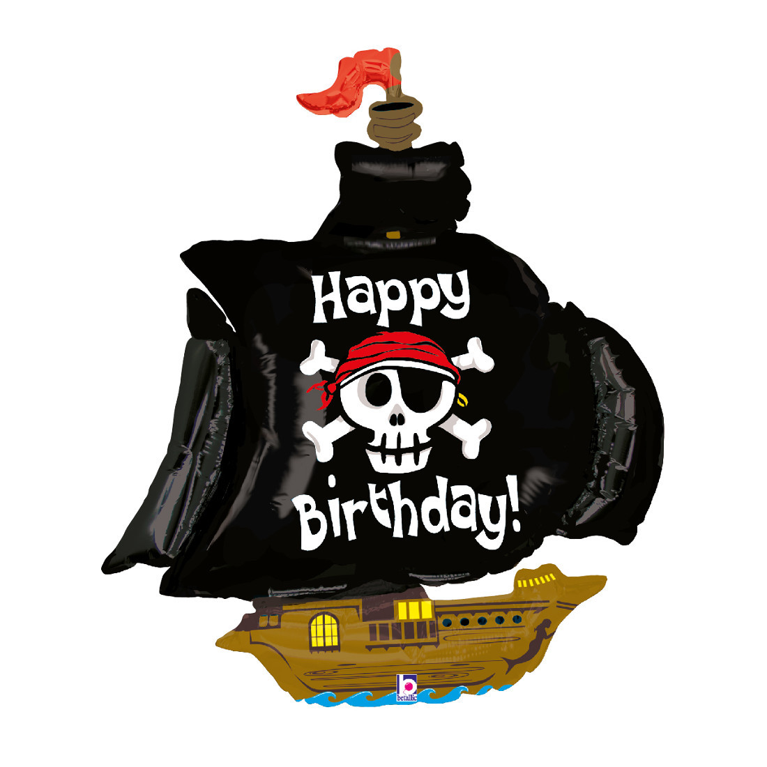 "Globo de helio ""barco pirata"""