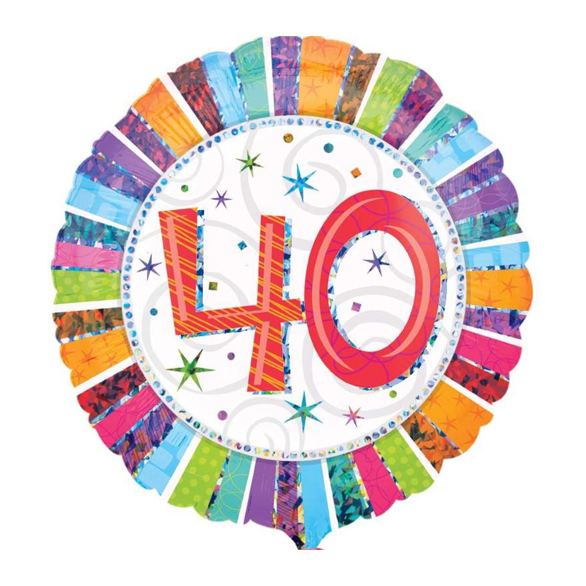 """Globo de helio """"40 Cumpleaños"""""""