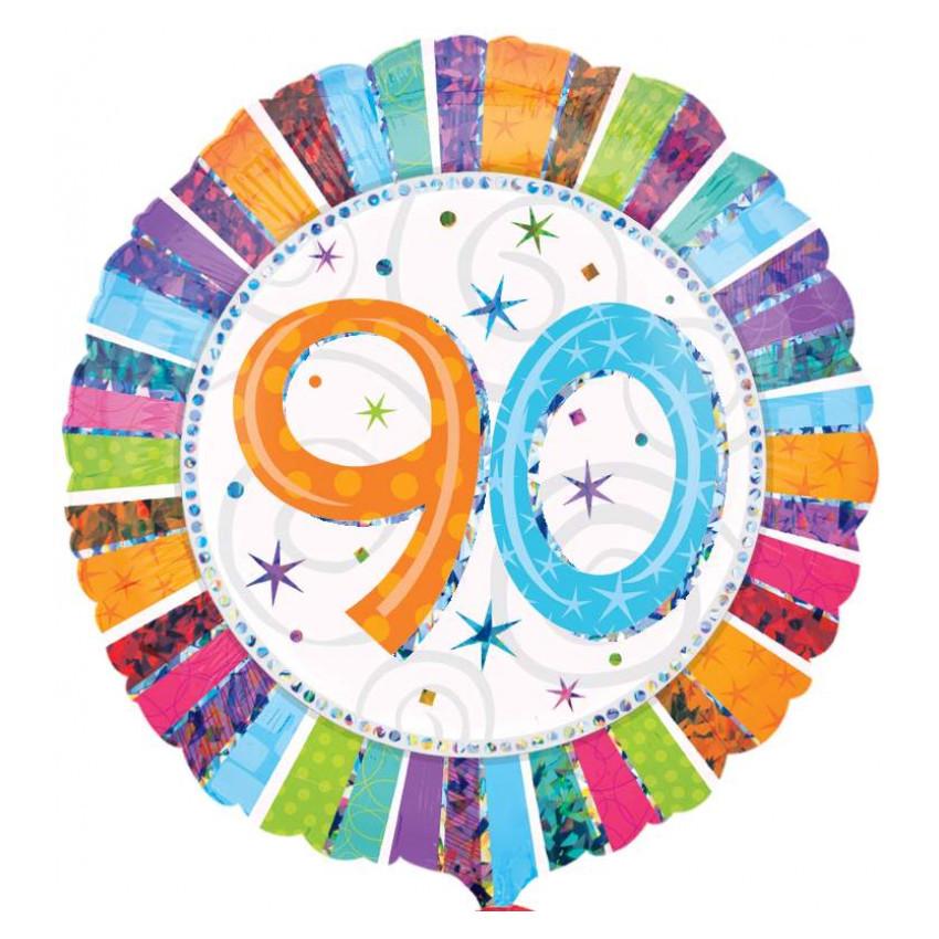 """Globo de helio """"90"""" – para celebrar una ocasión única"""