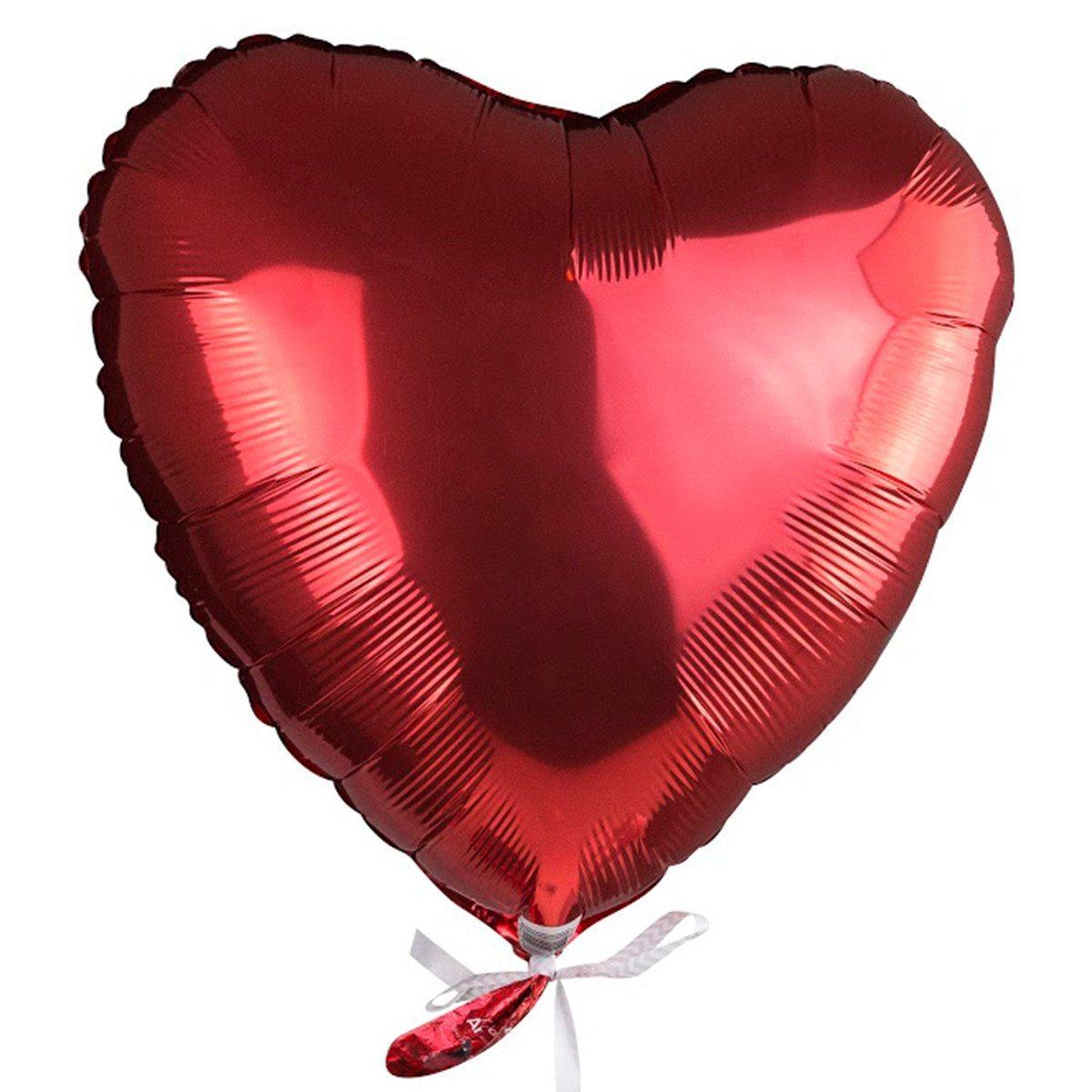 """Globo de helio """"Corazón"""" – rojo pasión para enamorados"""