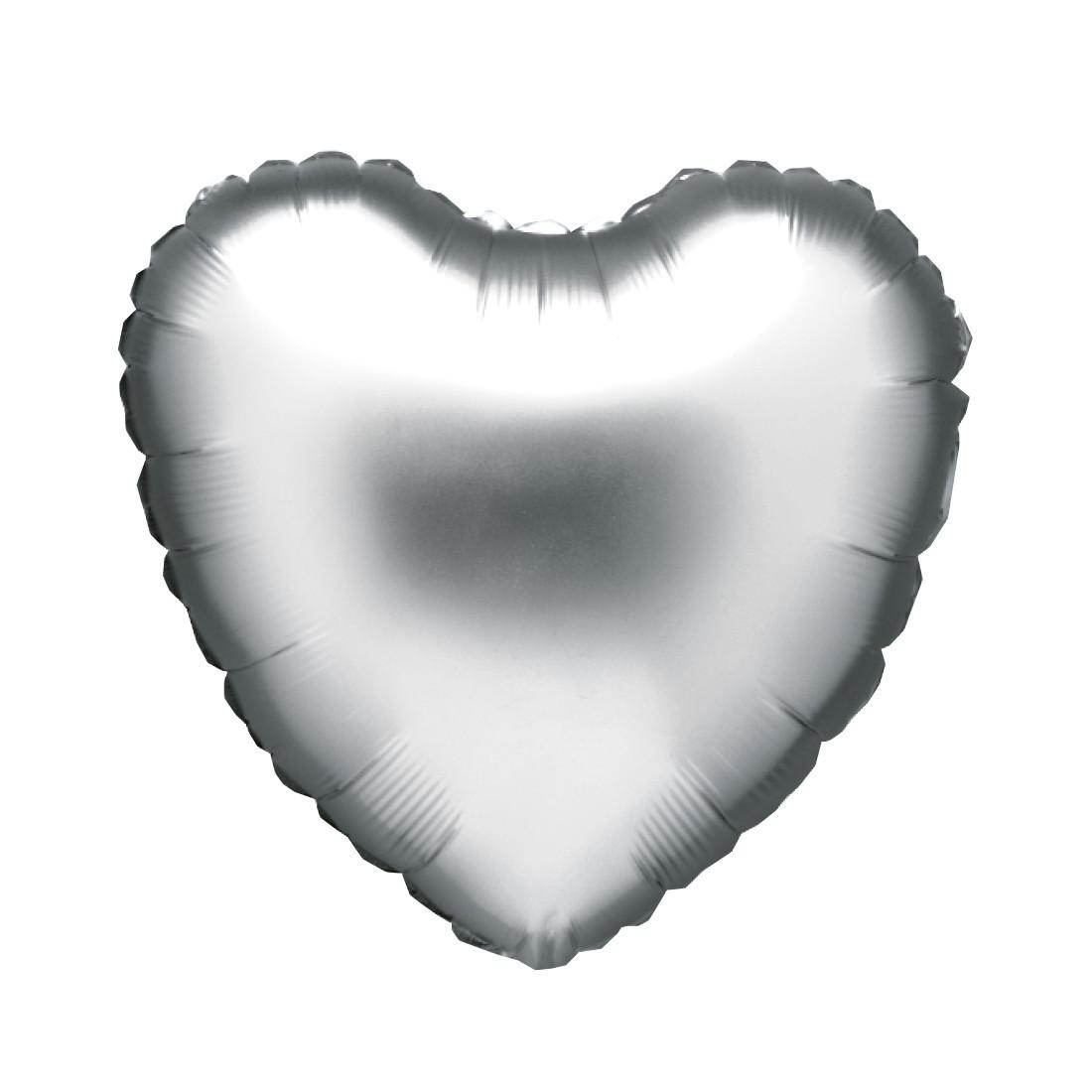 "HERZ SILBER 46 CM / HEART SILVER 18"""