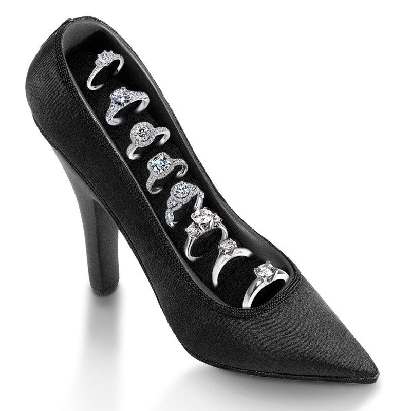 Organizador de anillos para chicas a la moda – Zapato