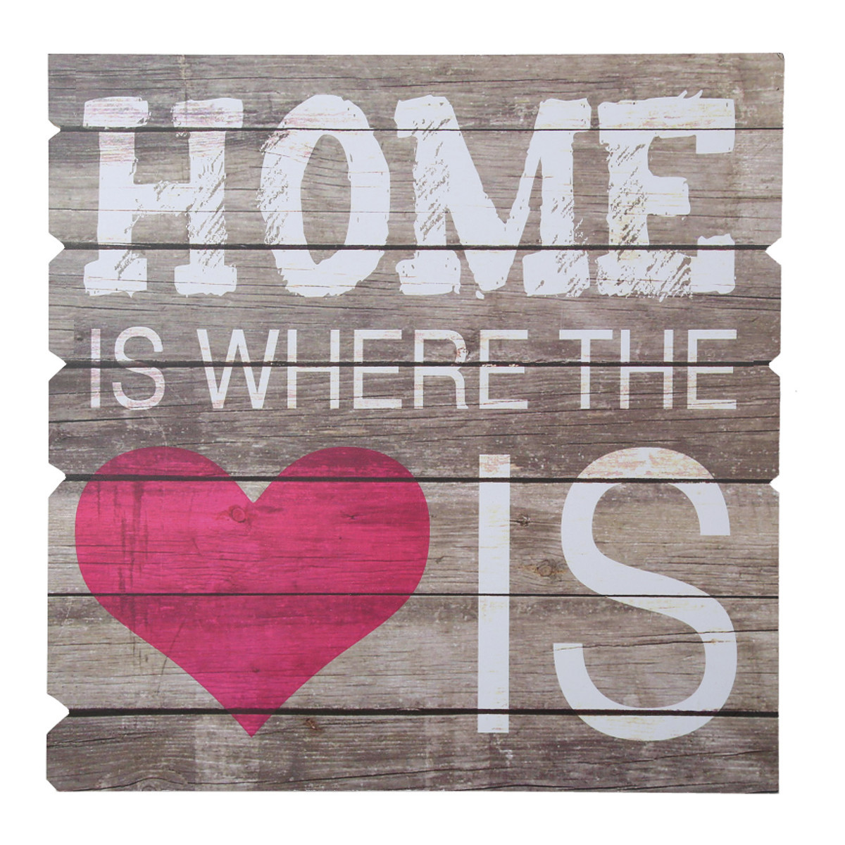 "Tabla decorativa  de madera ""Home is where the heart is"""