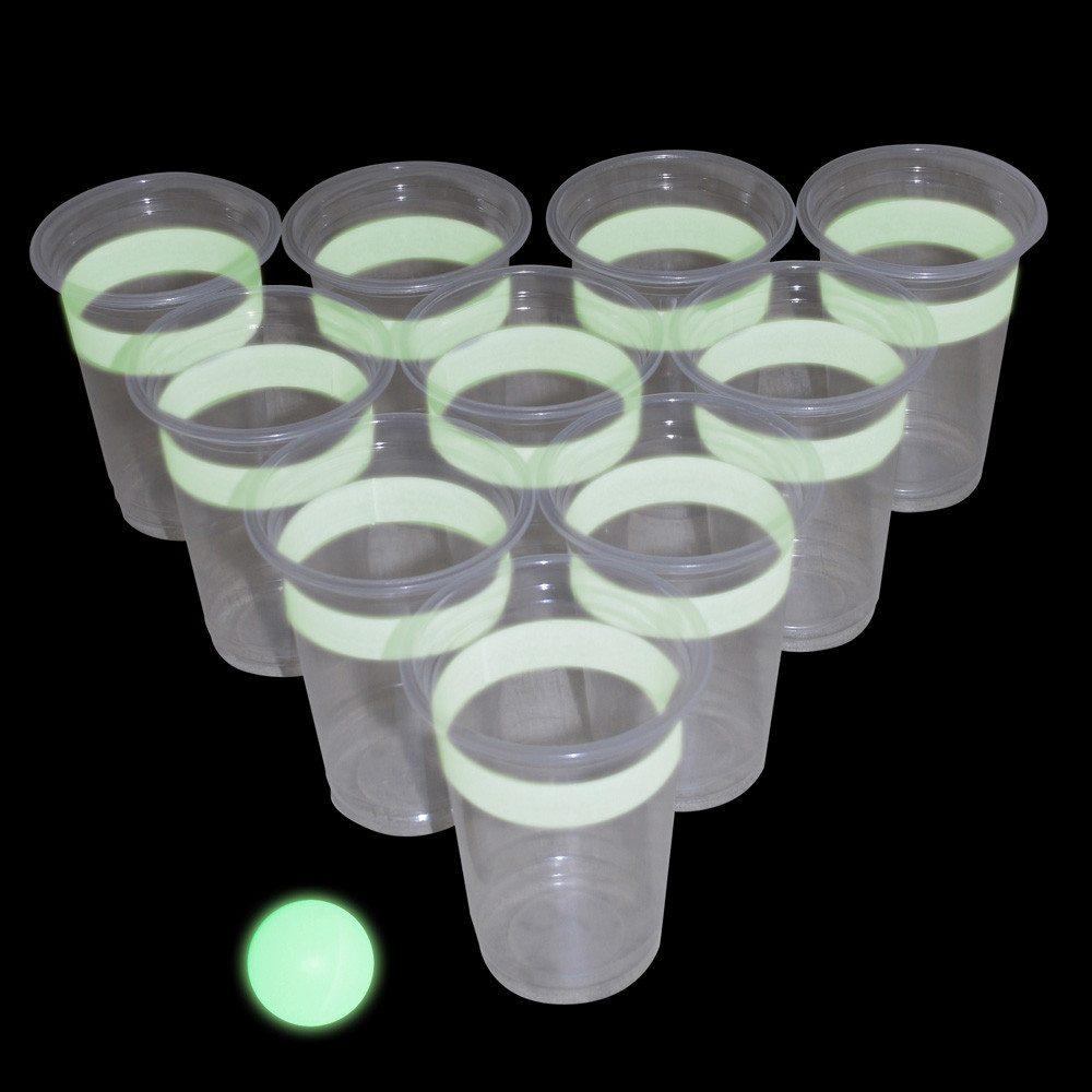 Vasos de quinito luminosos
