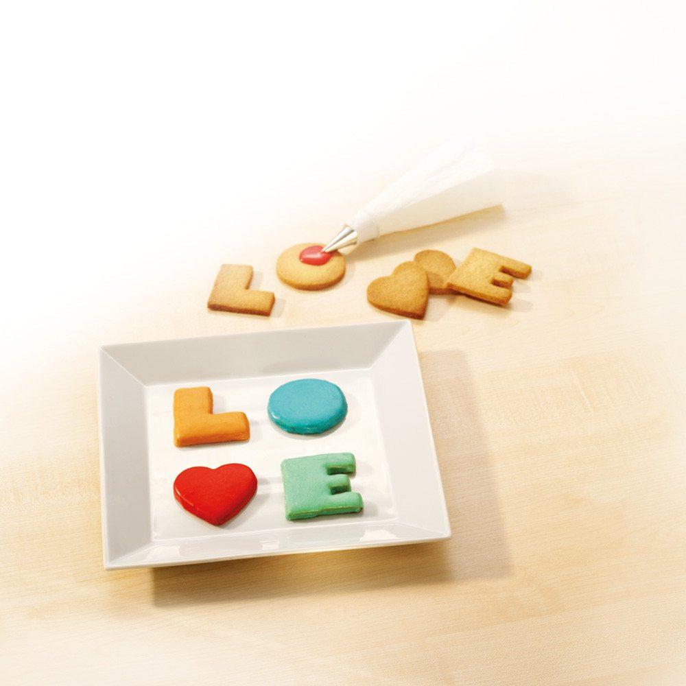 Moldes de galletas LOVE para dulces enamorados