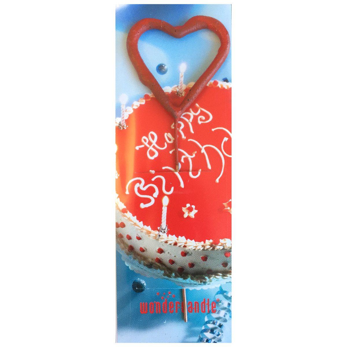 Vela corazón para cumpleaños muy románticos