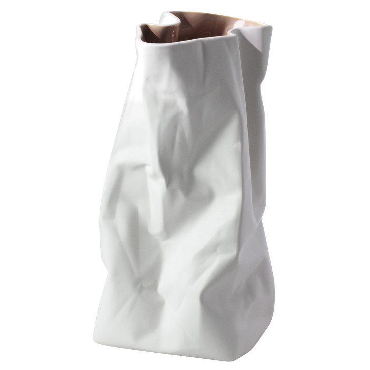 Jarrón original de diseño con forma de bolsita de papel