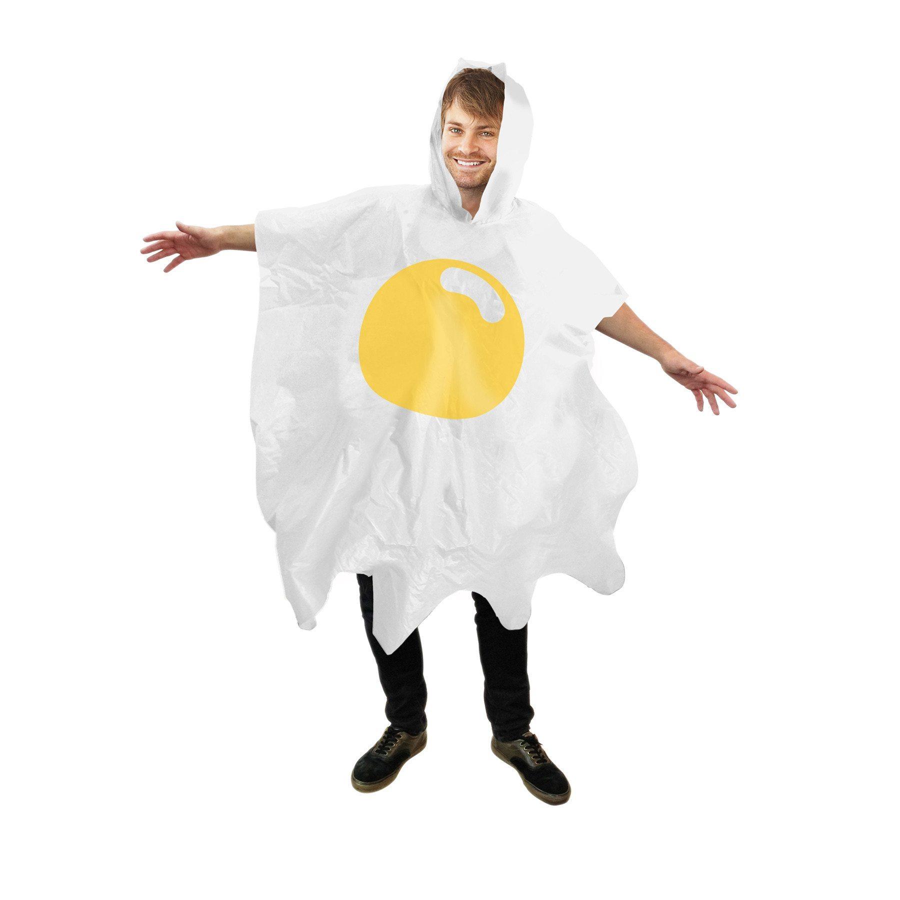 """Poncho """"huevo frito"""" para que la lluvia nunca te pare"""