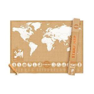 Mapa mundo sellos - Ideal para los viajeros