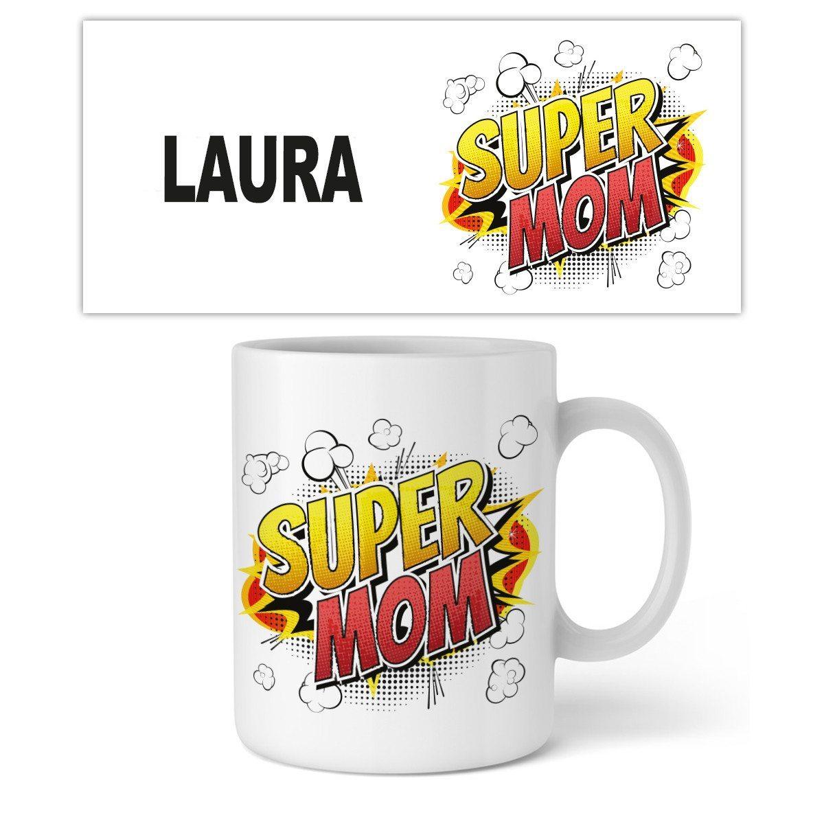 """Taza Personalizable """"Super Mom"""""""