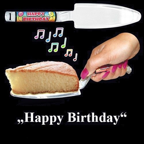 "Espátula musical ""Happy Birthday"""