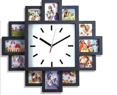 Reloj personalizable con fotos regalos para el hogar - Decoracion relojes de pared ...