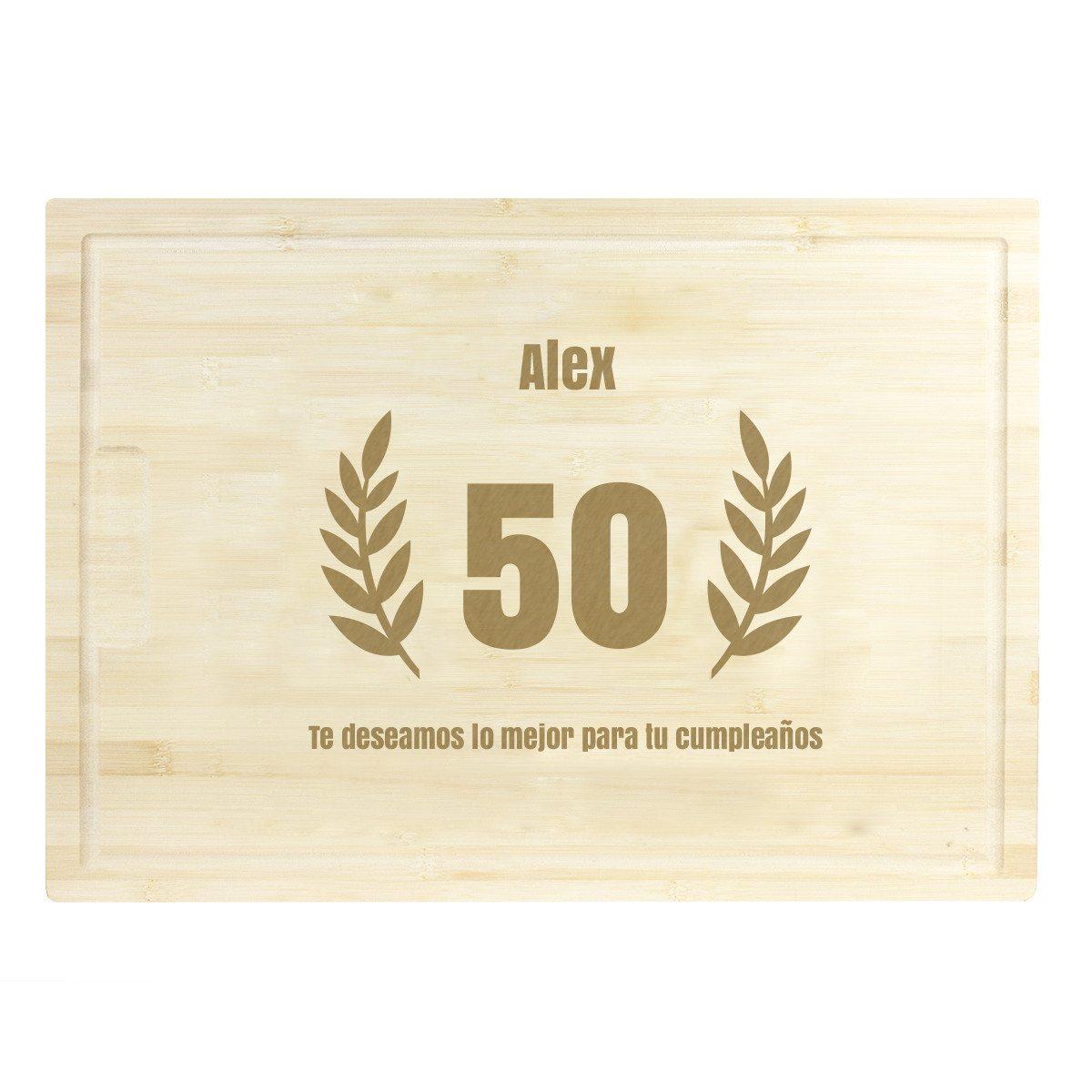 Tabla de cortar de madera con grabado XL
