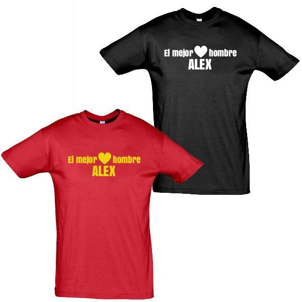 """Camiseta para ellos - """"El mejor hombre"""" - Personalizable"""