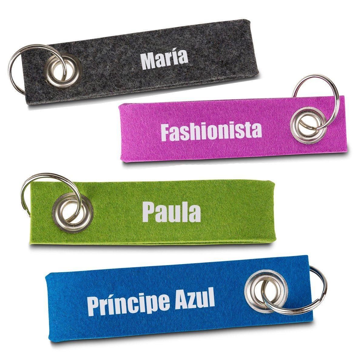 Llavero de fieltro personalizable - Escoge tu color