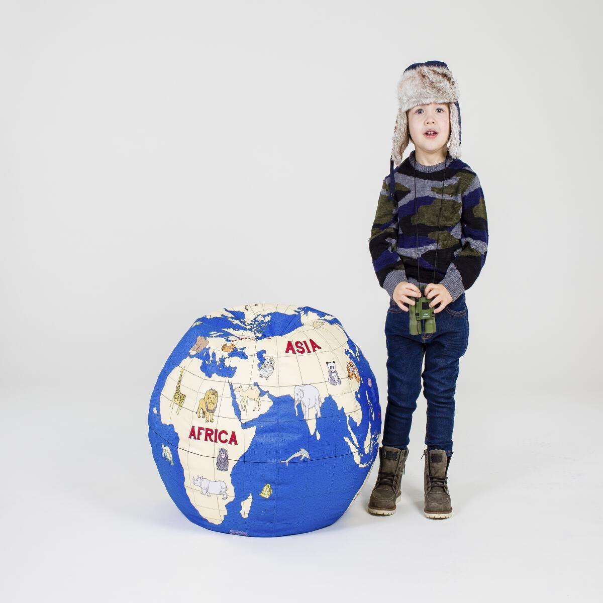 Puff bola del mundo azul