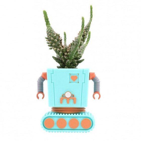 Macetas robóticas muy divertidas – Planterbot