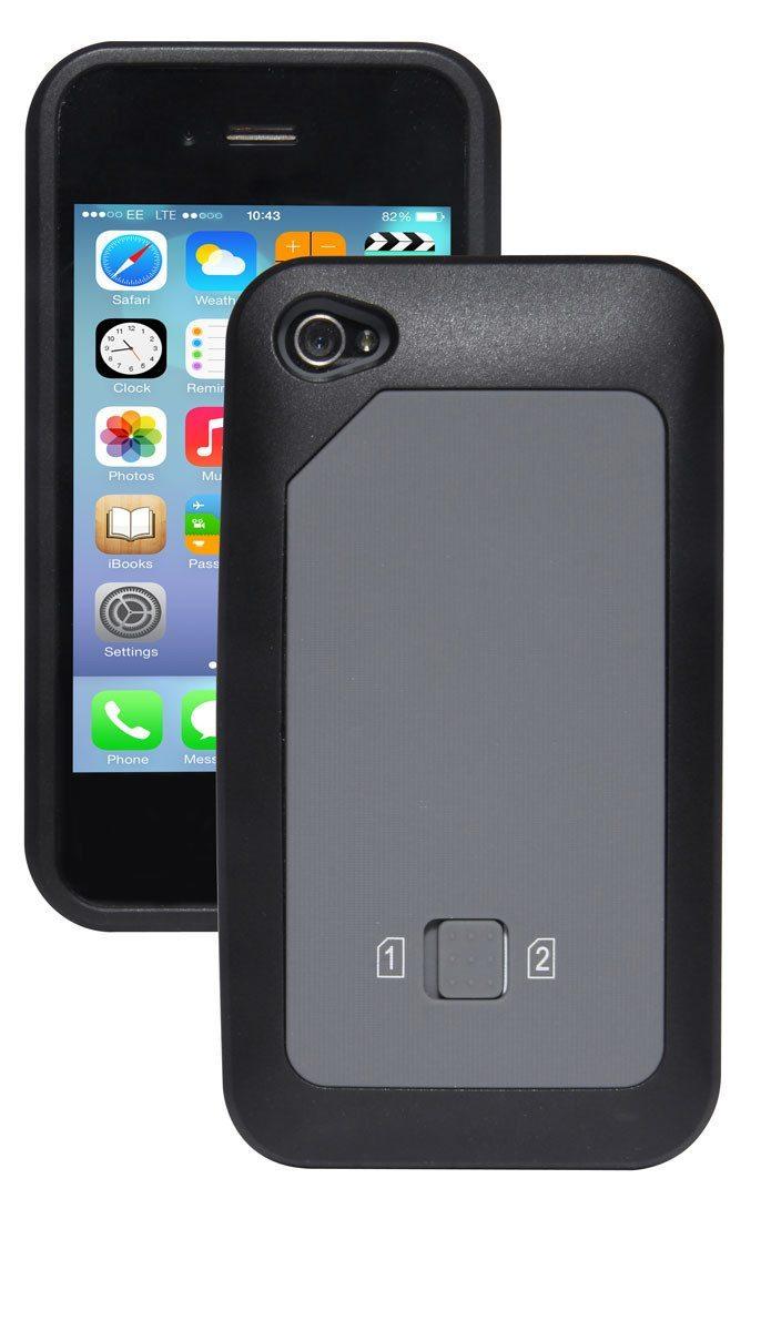 Carcasa para iPhone Dual SIM - ¡2 números en un móvil con un click!