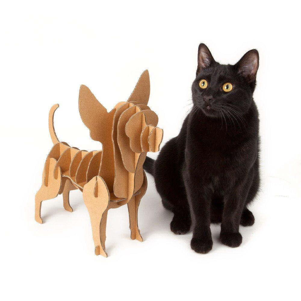 "Organizador original perro de cartón ""Chihuahua"""