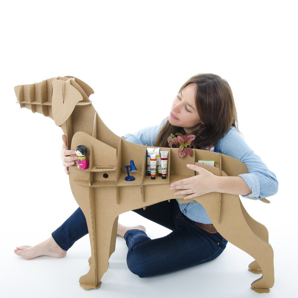 """Estantería y organizador perro de cartón """"Labrador"""""""