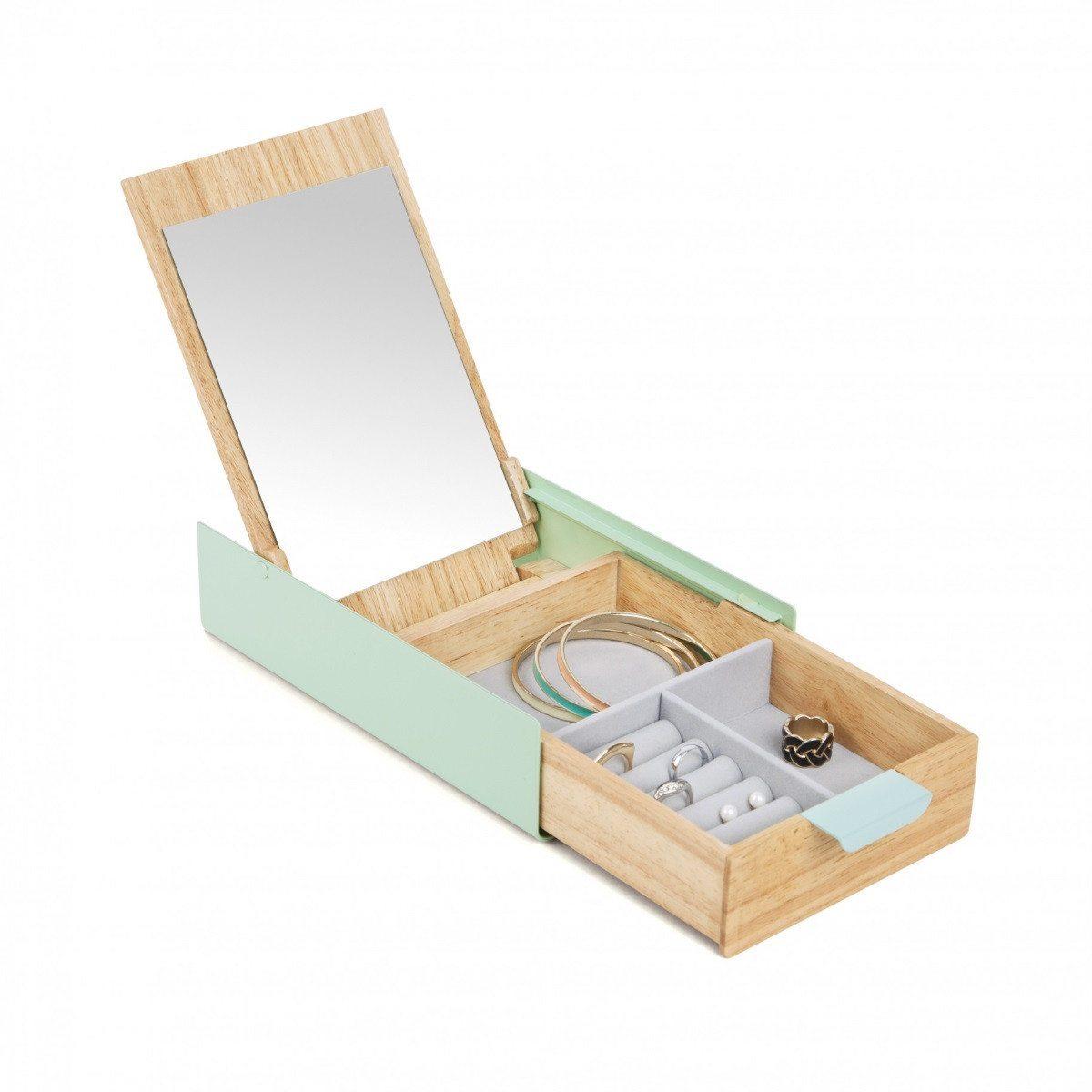 "Joyero con espejo ""Reflexión box"" para guardar tus tesoros"