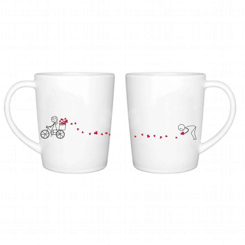 Juego de tazas de porcelana para enamorados