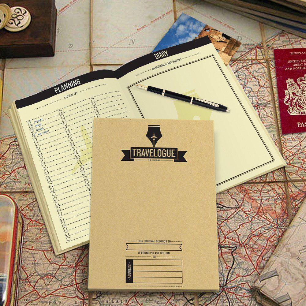 Reisebuch mit Weltkarten aufgeklappt