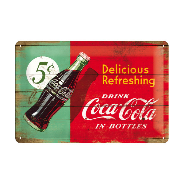 "Retro-Blechschild ""Coca-Cola"""