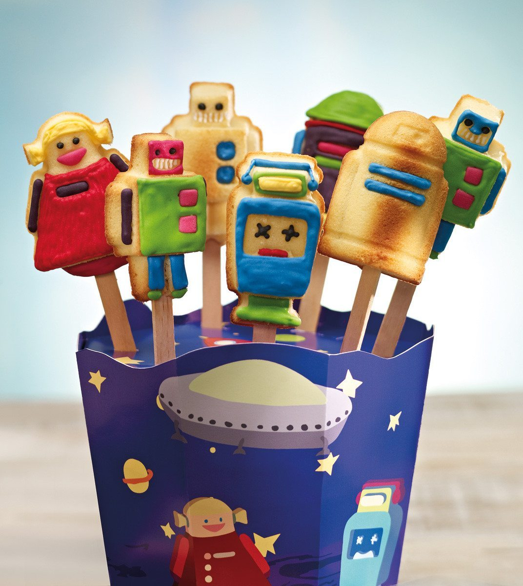 RoboPops- Moldes para cakepops en forma de robots