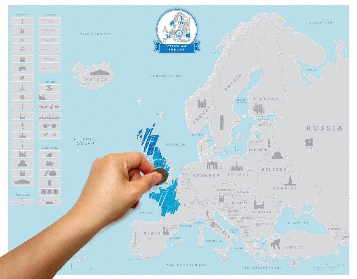 Mapa de Europa para Rascar - El viejo continente como nunca