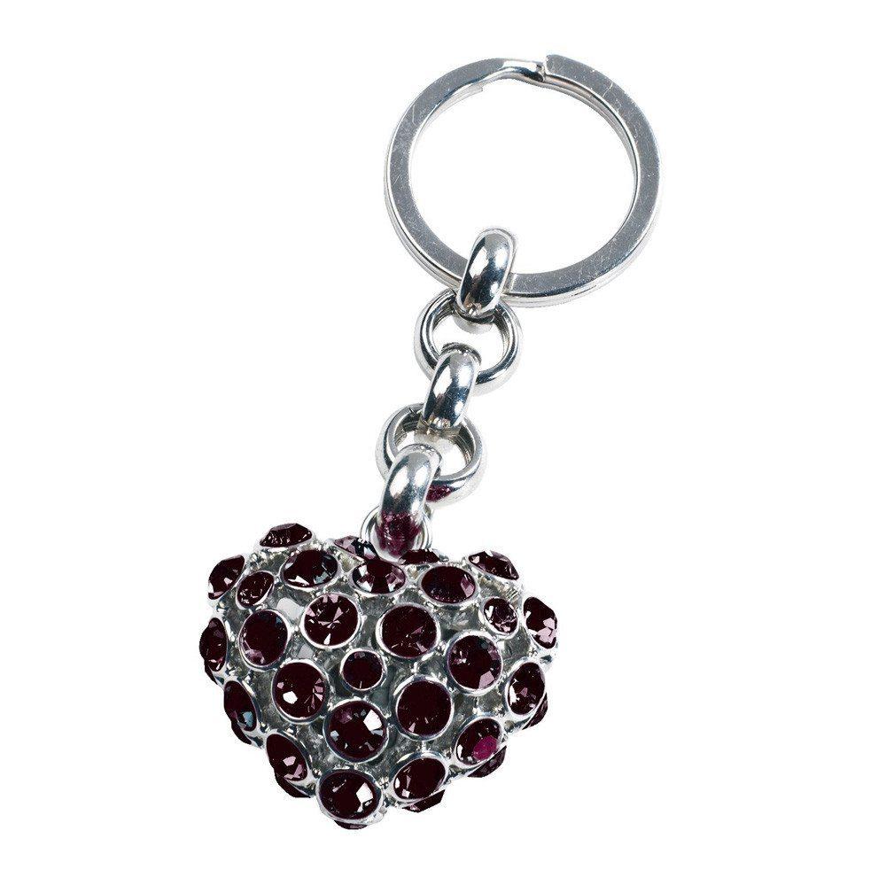 Schlüsselanhänger Glamour Heart dunkelrot