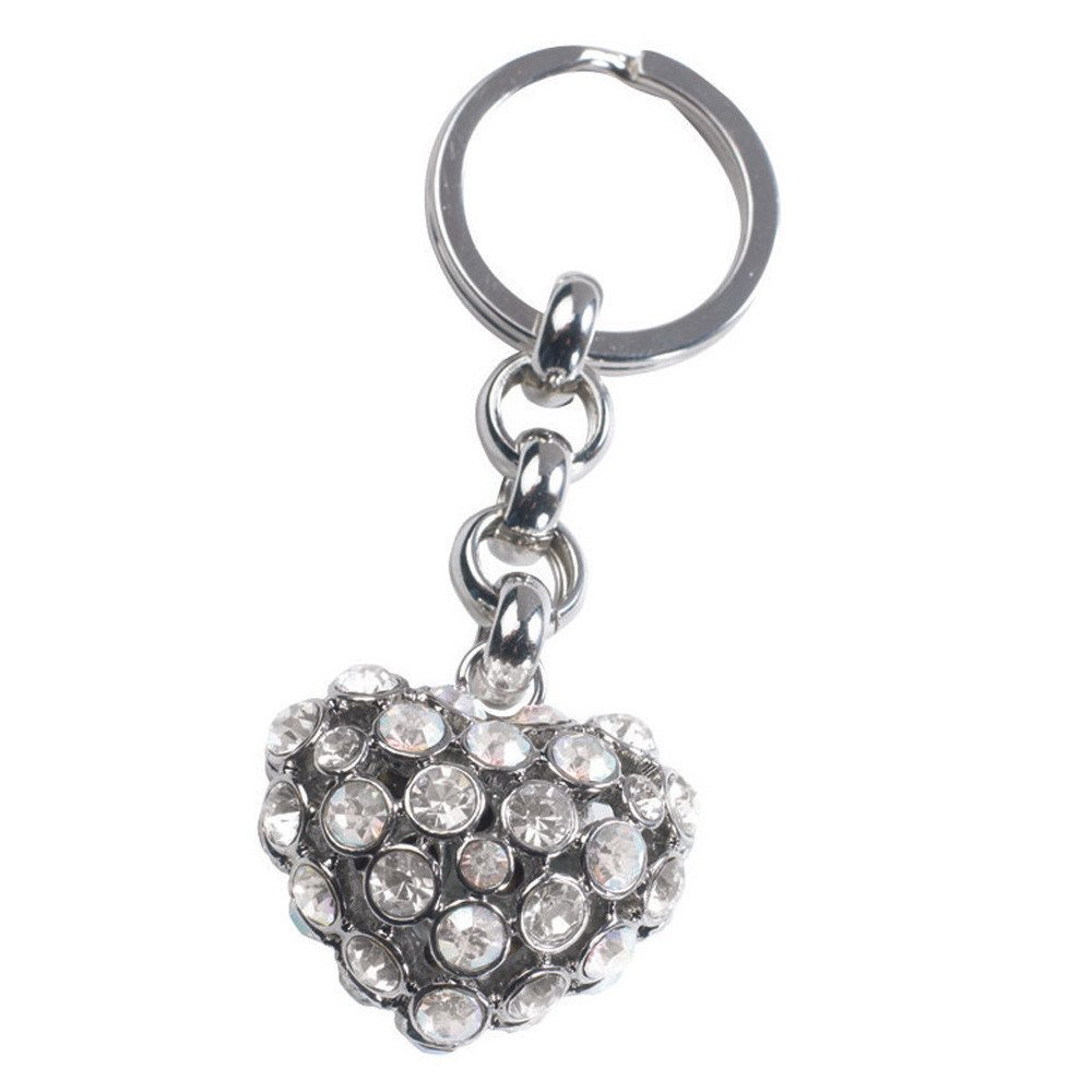 Schlüsselanhänger Glamour Heart silber
