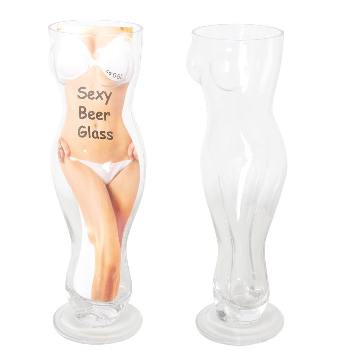 Cerveza Sexy vidrio - fresco con curvas