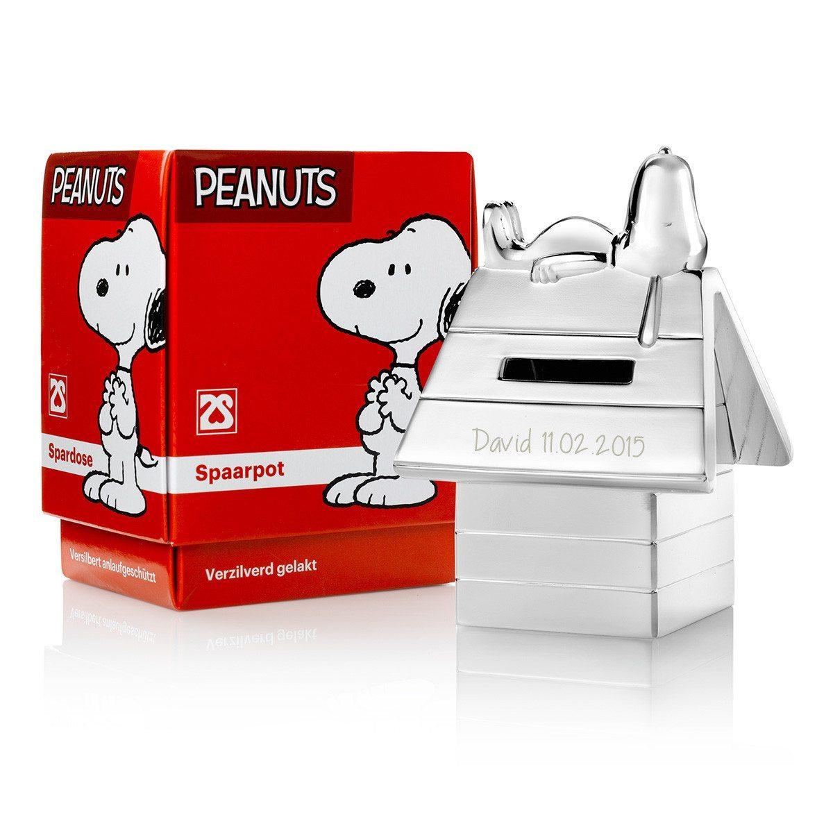 Snoopy-Spardose mit Gravur