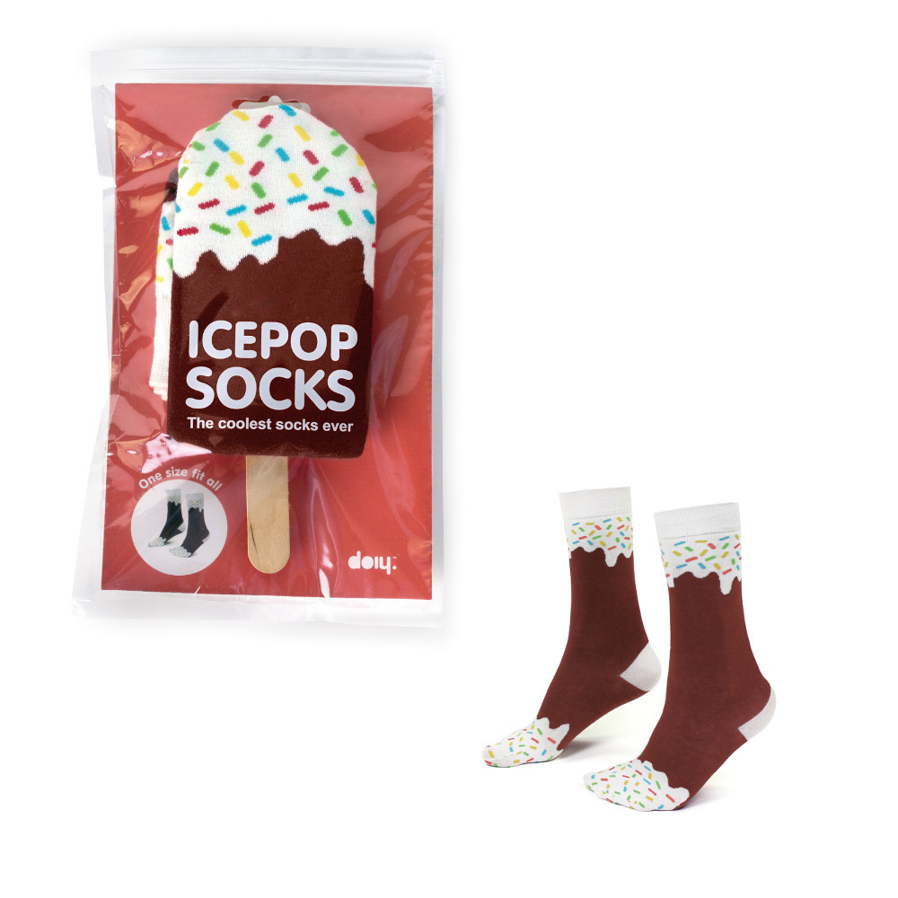 "Socken ""Schokoladeneis"""