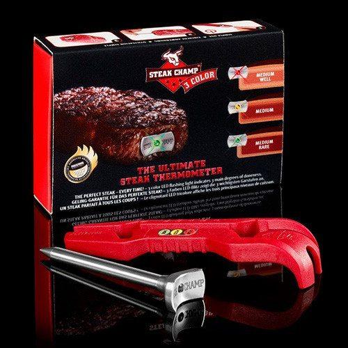 SteakChamp Fleischthermometer - 3-farbig
